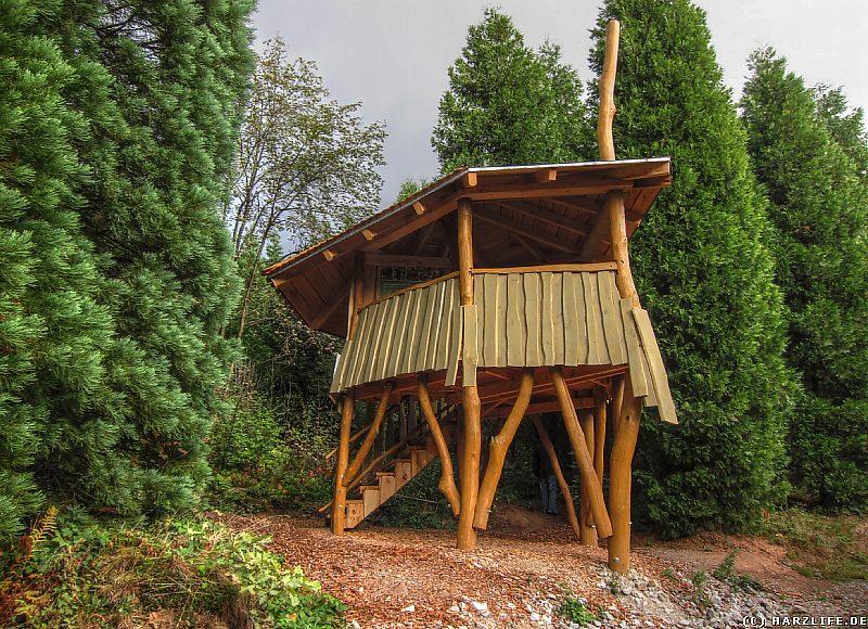 Der Entdeckerturm im WeltWald Harz