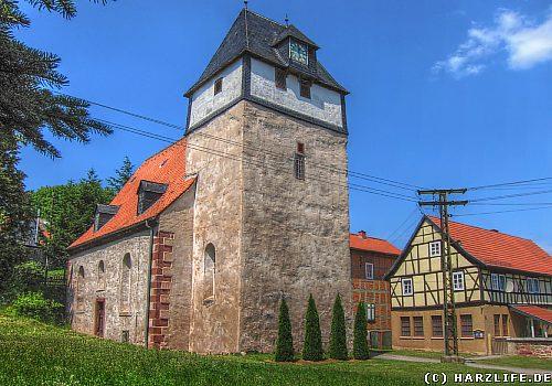 Bösenrode - Ortsbild mit Kirche
