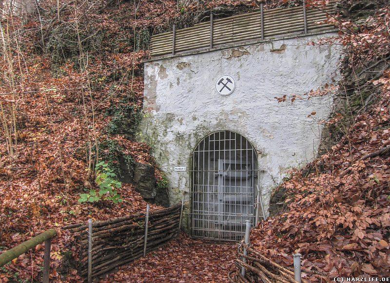 Mundloch 3 des Kupferschieferbergwerkes Lange Wand