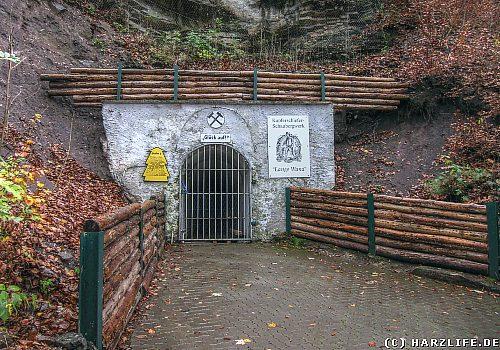 Kupferschiefer-Schaubergwerk Lange Wand in Ilfeld