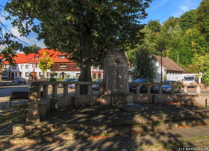Die Weltkriegs-Gedenkstätte in Ilfeld