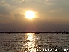 Hintergrundbild Sonnenuntergang